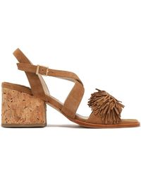 Paloma Barceló - Neville Fringed Suede Sandals Light Brown - Lyst