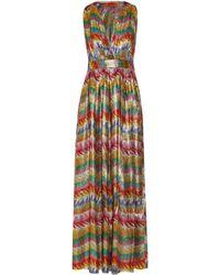 Missoni - Printed Silk-blend Lamé Maxi Dress - Lyst