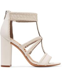 Sam Edelman - Yordana Woven Leather Sandals - Lyst