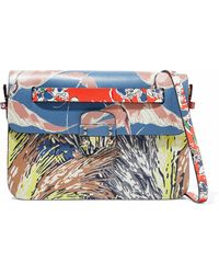 Valentino - Mime Printed Leather Shoulder Bag - Lyst