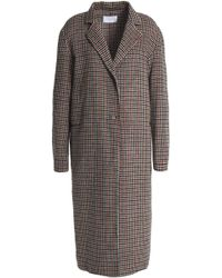 Sandro - Checked Wool-blend Coat - Lyst