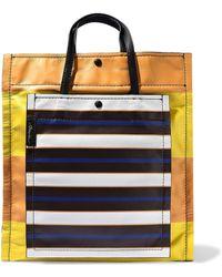 3.1 Phillip Lim - Accordion Striped Leather Tote - Lyst