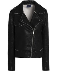 Splendid - Coated French Cotton-terry Biker Jacket - Lyst