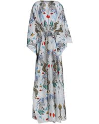 Mary Katrantzou - Printed Cotton And Silk-blend Kaftan - Lyst
