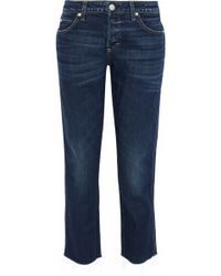 AMO - Tomboy Cropped Distressed Mid-rise Straight-leg Jeans - Lyst