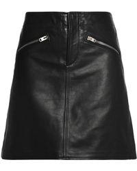 COACH - Leather Mini Skirt - Lyst