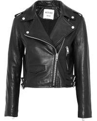 W118 by Walter Baker - Liz Leather Biker Jacket - Lyst
