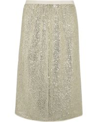 Vanessa Bruno - Gregor Sequined Crepe Skirt - Lyst