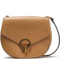 e01974dd89 COACH Leather And Suede Shoulder Bag in Black - Lyst