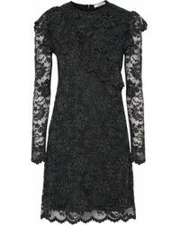Ganni - Flynn Lace Mini Dress - Lyst