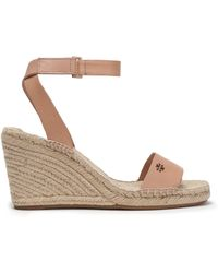 Tory Burch - Leather Espadrille Wedge - Lyst