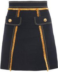 Peter Pilotto - Mini Skirt Navy - Lyst