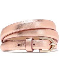Claudie Pierlot - Metallic Leather Belt - Lyst