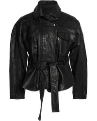 Marissa Webb - Belted Leather Jacket - Lyst