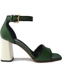 b9f84bc0c Miss Kg Forest Multi Colored Strappy Sandals - Lyst