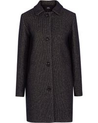 A.P.C. - Rooney Metallic Wool-blend Coat - Lyst