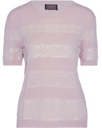 Giambattista Valli - Lace-appliquéd Cashmere Sweater - Lyst
