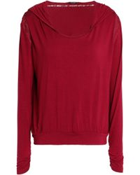 Heidi Klum - Lace-trimmed Jersey Hooded Pajama Top - Lyst