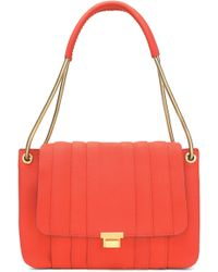 Anya Hindmarch - Textured-leather Shoulder Bag Tomato Red - Lyst