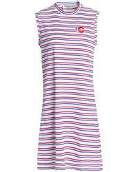 Être Cécile - Appliquéd Striped Cotton-jersey Dress - Lyst