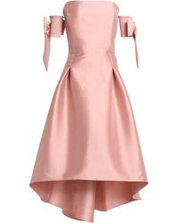 Sachin & Babi - Off-the-shoulder Flared Duchesse Satin-twill Midi Dress - Lyst
