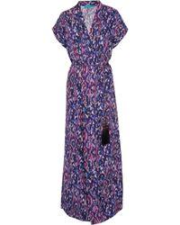 Matthew Williamson - Printed Silk-satin Kimono - Lyst