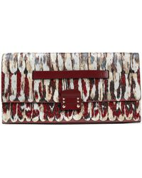 Valentino - Embroidered Leather Clutch - Lyst