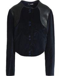 Nina Ricci - Leather-trimmed Cotton-blend Corduroy Jacket - Lyst