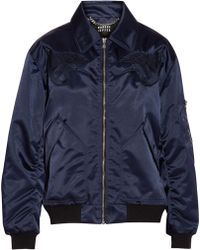 Markus Lupfer - Amelia Embroidered Shell Bomber Jacket - Lyst