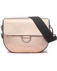 Brunello Cucinelli - Embellished Metallic And Glossed Leather Shoulder Bag - Lyst