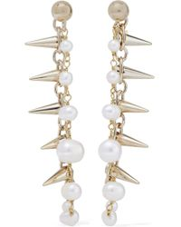 Rosantica - Gold-plated Freshwater Pearl Earrings - Lyst