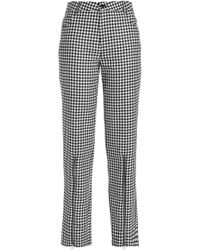 McQ - Zip-detailed Gingham Wool-twill Straight-leg Pants - Lyst