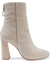 Alexandre Birman - Corella Metallic Stretch-knit Ankle Boots - Lyst