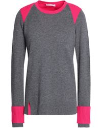 Duffy - Ribbed-paneled Two-tone Cashmere Jumper Dark Grey - Lyst