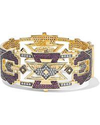 Noir Jewelry 14-karat Gold-plated Crystal Bracelet Gold - Metallic