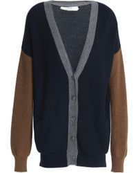 Vanessa Bruno Athé - Color-block Wool And Cotton-blend Cardigan - Lyst