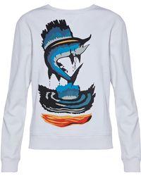 JW Anderson - Printed Cotton-terry Sweatshirt - Lyst