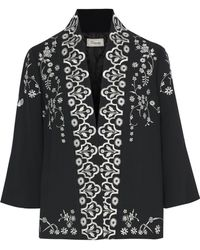 Temperley London - Lettie Embroidered Crepe Jacket - Lyst