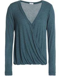 Splendid - Wrap-effect Ribbed-knit Top - Lyst