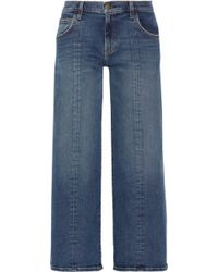 Current/Elliott - The Wide-leg Crop Mid-rise Jeans - Lyst