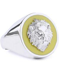 Versus - Woman Enamel Ring Silver - Lyst