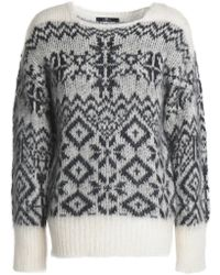7 For All Mankind - Jacquard-knit Mohair-blend Sweater - Lyst