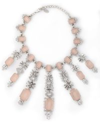 Elizabeth Cole - Silver-tone Crystal Necklace - Lyst