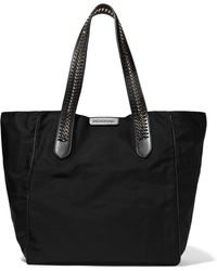 Stella McCartney - Faux Leather And Chain-trimmed Twill Tote - Lyst