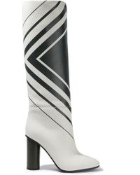 Outlet Fake Anya Hindmarch Woman Striped Metallic Ankle Boots Silver Size 40 Anya Hindmarch 100% Guaranteed Cheap Online yQg8DZDu24