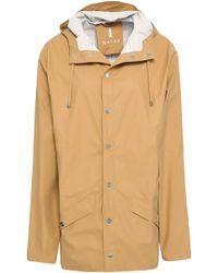 Rains - Woman Coated Shell Hooded Raincoat Mustard - Lyst