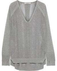 Halston - Oversized Mélange Knitted Sweater - Lyst