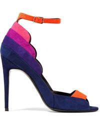 Pierre Hardy | Roxy Color-block Suede Sandals | Lyst
