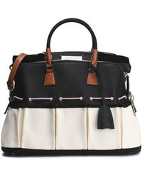 Maison Margiela - Leather And Twill Tote - Lyst