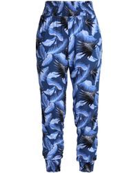 Mikoh Swimwear - Shirred Printed Track Trousers - Lyst